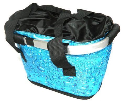 Első kosár szövet üsszecsukható QR kék