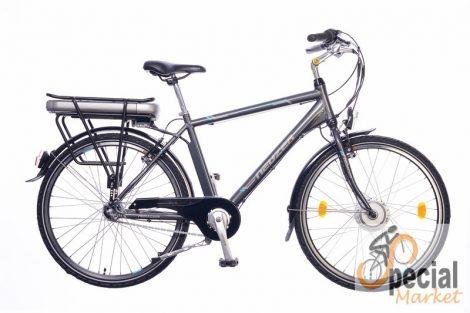 E-Trekking Herren Anthrazit / Silber-Cyan 18 BAFANG Motor
