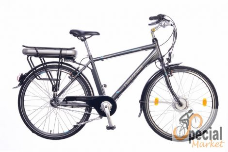 E-Trekking man anthracite/silver-cyan 18 BAFANG with motor