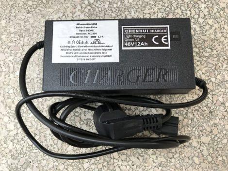 Akkumulátor Töltő elektromos kerékpárhoz 48 V 2,0 Ah Lapos T