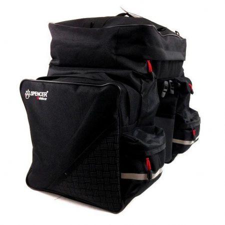 Táska csomagtartóra 3 részes fekete Spencer 42L